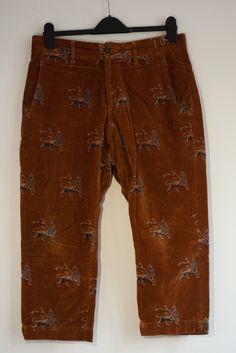 Sasquatchfabrix SasquatchFabrix Velour Cropped Trousers 2011 Size US 32 / EU 48