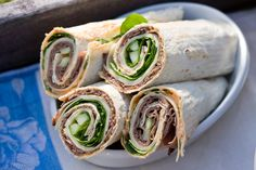 Roast Beef Wraps, using deli beef and cheese