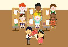 ILL148, 5월이벤트데이, 5월, 이벤트데이, 이벤트, 에프지아이, 벡터, 사람, 생활, 라이프, 캐릭터, 남자, 여자, 스승의날, 카네이션, 꽃, 선생님, 교육, 학습, 공부, 학생, 단체, 어린이, 웃음, 행복, 쾌활, 교실, 책상, 의자, 꽃다발, 연필, 앉아있는, 서있는, 일러스트, illust, illustration #유토이미지 #프리진 #utoimage #freegine 19890844