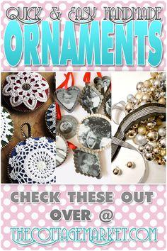 21 Quick & Easy Handmade Ornaments #Christmas ornaments, #DIY ornaments,' #Christmas