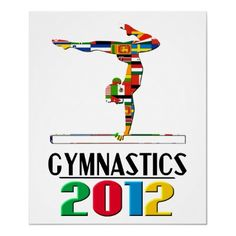 2012: Gymnastics Poster from http://www.zazzle.com/gymnastics+gifts