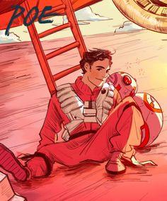 Poe by mohtz fanart from Star Wars Episode VII The Force Awakens #poedameron…