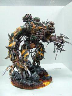 40k - Iron Warriors Daemon Engine Construct by Malfred via Dakkadakka
