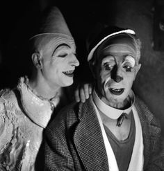 French clowns — photo by Gaston Paris (1935)