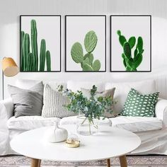 Online Shop Elegant Poetry Green Plants Cactus Simple Decoration Canvas Painting Print Poster Picture Wall Art Bedroom Home Decorative Cactus Wall Art, Cactus Decor, Cactus Print, Minimalist Canvas Art, Simple Living Room Decor, Chandelier In Living Room, Room Carpet, Home And Deco, Room Inspiration