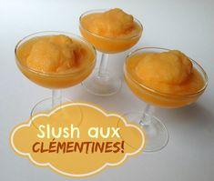 Des clémentines congelées et de la slush aux clémentines! Popsicles, Pudding, Lunch, Fruit, Paradis, Camps, Food, Drink, Summer