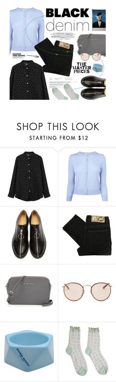 """""""The Master Set"""" by clovers-mind ❤ liked on Polyvore featuring L.K.Bennett, MM6 Maison Margiela, Cheap Monday, Ray-Ban, Frankie Morello, Rene, Limedrop, women's clothing, women's fashion and women"""