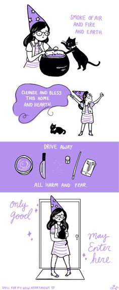 leighluna:  I moved into a new apartment this weekend. Here is a cute spell for new homes. :)  protectmumbles witchcraft witchblr witch resources magic spell protection spell new home