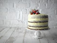 Styled by Nick Walsh @ Boss Creative Management Fashion Cakes, Interior Stylist, Food Trends, Tiered Cakes, Food Styling, Naked, Boss, Strawberry, Management