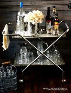 Thrift Store Bar Cart Not for a bar tho, use for crockpots & mixers!!!