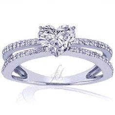 so pretty! I love it!     0.50 Ct Heart Shaped Diamond Engagement Ring Pave 14K VS2-F EGL $1,559.99