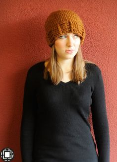 Toffee SuperChunky Hat - winter hat - chunky crochet - crochet hat - wool hat. £16.00, via Etsy.