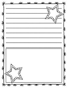 Star writing paper