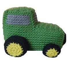 Amigurumi John Deere Tractor by Stacey Trock of FreshStitches