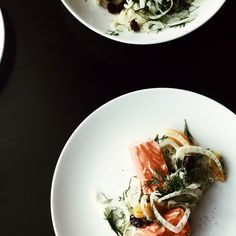 Sous vide salmon with fennel salad.
