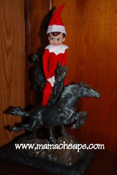 ~ Elf on the shelf...Oh Jo this elf on the shelf idea sounds like so much fun for all your kiddos! And for Ethan too Laura...I <3 this!
