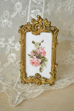 Beautiful Antique French Ormolu Picture Frame