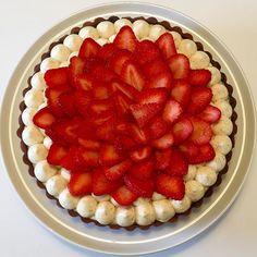 Jordbærtærte - Ditte Julie Jensen