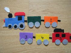 Felt Board Ideas: Train Felt Board Activity