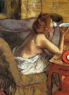 Edgar Degas: The Breakfast, c. 1885.