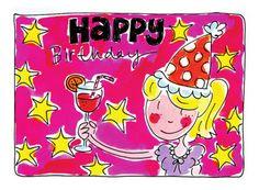 Jarig meisje met een cocktail in haar handen kaart 80th Birthday, Birthday Wishes, Birthday Cards, Happy Birthday, Blond Amsterdam, Happy B Day, Birthday Images, Sweet Sixteen, Christmas Wishes
