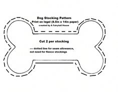The best thing about this stocking is how EASY it is! In no time you will have a great dog stocking for your own pup or a friend's. They are great way to give a dog-themed hostess gift – skip the basket that nobody wants and tuck their prezzies … Pet Christmas Stockings, Pet Stockings, Christmas Stocking Pattern, Christmas Sewing, Christmas Animals, Christmas Dog, Stocking Template, Dog Crafts, Creation Couture