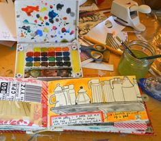 journal/sketchbook by mary ann moss