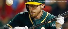 Oakland A's Outfielder, Eric Sogard wearing #Kaenon Optical. Style: 401 in Tortoise Clear