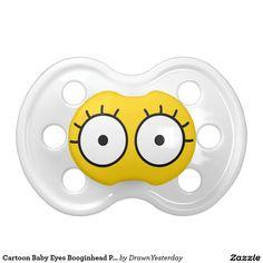 Cartoon Baby Eyes Booginhead Pacifier. BooginHead Pacifier. #cartoon #pacifier #baby #babygifts #giftideas