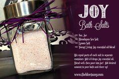 Young Living essential oils, Joy blend bath salts.