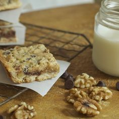 Derby pie bars - uses walnuts and not pecans. Good value considering the current price of pecans!