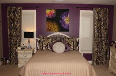 Rod Pocket Panels by Fabric Creations Drapery Panels, Rod Pocket, Bed, Fabric, Furniture, Home Decor, Tejido, Tela, Decoration Home