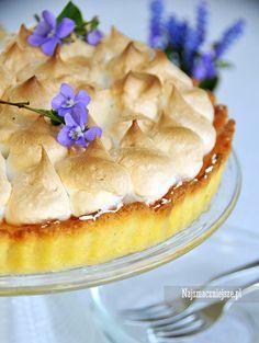 Tarta cytrynowa z bezą, tarta cytrynowa, tarta z lemon curd, lemon curd, beza, http://najsmaczniejsze.pl #food #beza #cake #lemon