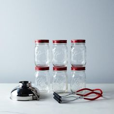 Ball Jar Canning Kit with Colorful Lids: Color code your summer produce. #food52