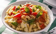 Parafuso, tomate e manjericão