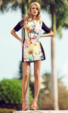 tropical dress Primark ss12