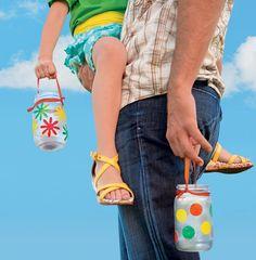 Colorful Homemade Lanterns | Parenting