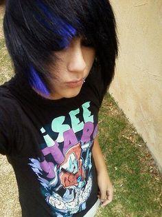 love the blue in the hair  so cute!