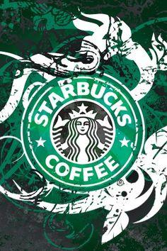 Starbucks Green Abstract iPhone Wallpaper Download