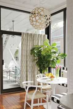 Breakfast nook. Love the booths and light  Second Story | Charleston Magazine