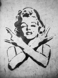 Marilyn ROCKS. not sure if this banksy but sure looks like his work