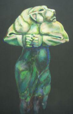 grünes Monster, Gemälde auf Hombroich - Foto: S. Hopp