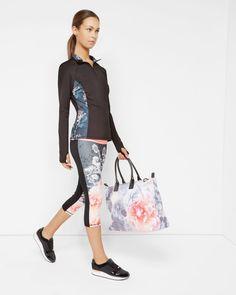 Monorose print tote bag - Nude Pink | Bags | Ted Baker
