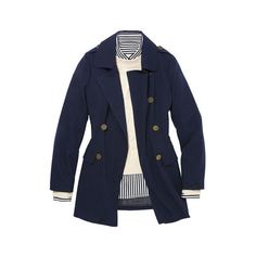 Nautical Fashions ❤ liked on Polyvore featuring jackets, coats, outerwear and tops