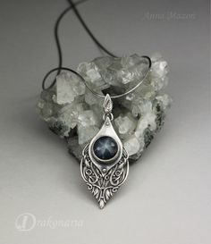 www.drakonaria.com Sterling silver,star sapphire. Sindarin collection by Anna Mazon. One of a kind.