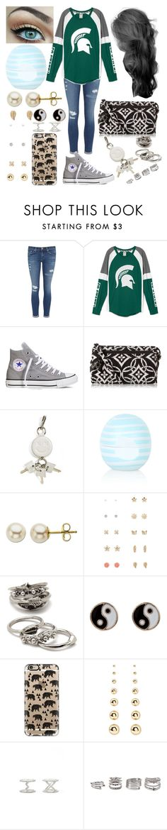 """Spartan's basketball game day"" by xo-arissa-xo ❤ liked on Polyvore featuring AG Adriano Goldschmied, Converse, Vera Bradley, Alexander Wang, Topshop, Lord & Taylor, Forever 21, Accessorize, Casetify and women's clothing"