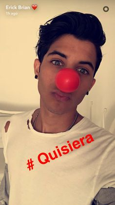 Red Nose Day!!! Erick B. Colon❤❤❤ Cnco Snapchat, Erick Brian Colon Instagram, Red Nose Day, Famous Singers, My Love, Celebrities, Cami, People, Icons
