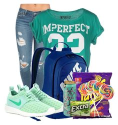 """""""THE PERFECT SCHOOL DAY"""" by ashanti7 on Polyvore featuring !M?ERFECT, NIKE, women's clothing, women, female, woman, misses and juniors"""
