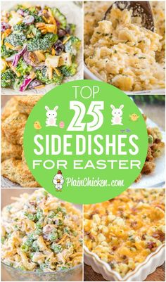 Top 25 easter side dishes vegetables potatoes mac and cheese breads something for everyone at your holiday table lots of the recipes can be made ahead of time and frozen until dinner you don t want to miss these recipes! Easter Side Dishes, Dinner Side Dishes, Side Dishes For Party, Easter Buffet, Side Dishes For Chicken, Easter Dinner Recipes, Sides For Easter Dinner, Easter Dinner Ideas, Easter Recipes Vegetables