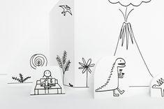 Imprimible: Ciudad de papel y dinosaurios >> Made by Joel » Dinosaur Music Video Paper City